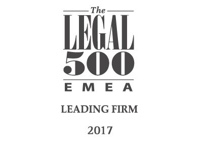 Legal500 Leading Firm 2017